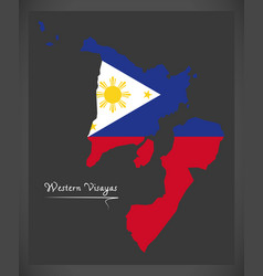 western visayas map of the philippines with vector image