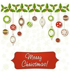 Beautiful Christmas greeting card vector image vector image