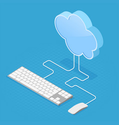 cloud computing technology isometric vector image vector image