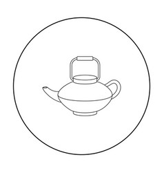 tetsubin icon in outline style isolated on white vector image vector image