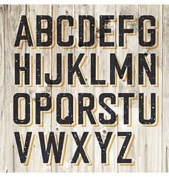 alphabet on wooden vector image vector image