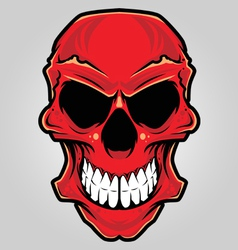 angry skull vector image vector image