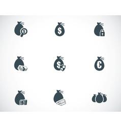 black money icons set vector image vector image
