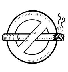 Doodle smoking no vector