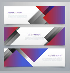Elegant geometric banners in business style vector