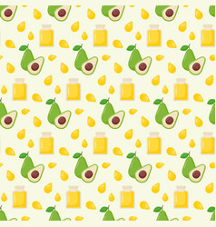 avocado oil seamless pattern vector image