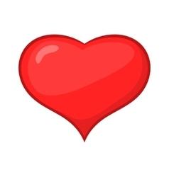 Card suit hearts icon cartoon style vector