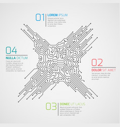computer technology infographic template vector image vector image
