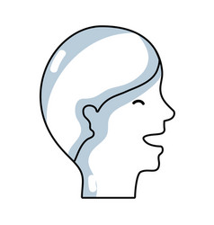 Line man head with hairstyle design vector