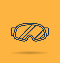 linear icon of sports mask of snowboarder vector image vector image