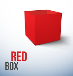 Realistic Red Box isolated on white background vector image vector image