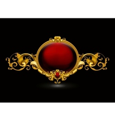 Red Vintage Frame vector image vector image