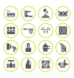 Set round icons of pool vector image vector image