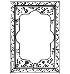 Black painted frame on white background vector image