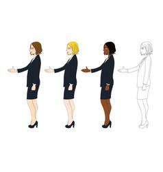 business woman hand shake vector image vector image