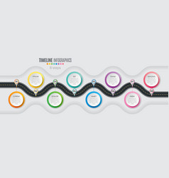 navigation map infographic 8 steps timeline vector image vector image
