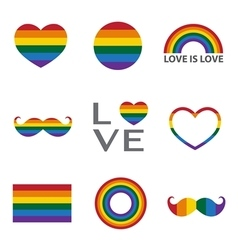 Rainbow iconLGBT support symbol vector image vector image
