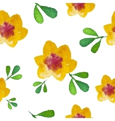 Watercolor flower Seamless Background vector image
