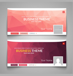 Web business site design Header Layout Template vector image vector image