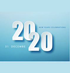 2020 happy new year creative design background or vector image