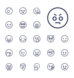 22 smiley icons vector