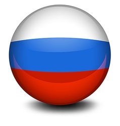 A ball with the Russian flag vector image