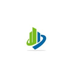 Abstract building company logo vector