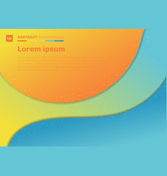 abstract colorful template curve with shadow on vector image