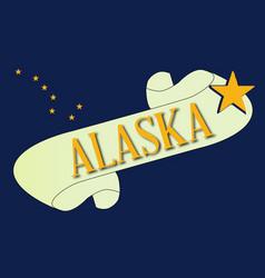 Alaska scroll vector