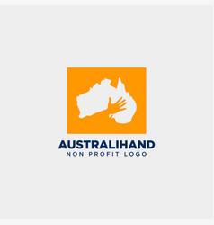Australia charity non profit care hand logo vector