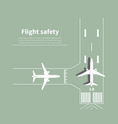 aviation safety vector image