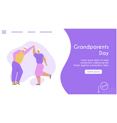 Banner grandparents day concept vector