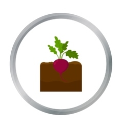 Beet icon cartoon Single plant icon from the big vector image