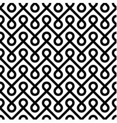 Black and white linear weaved seamless pattern vector