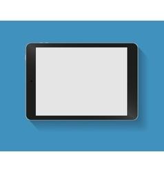 Black tablet pc horizont vector image