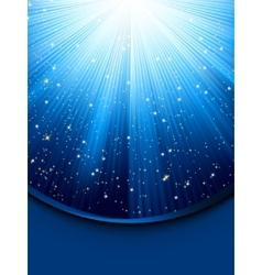 Blue luminous rays vector