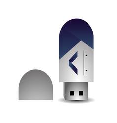 Branding usb design vector