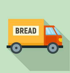 bread truck delivery icon flat style vector image