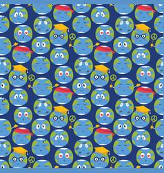 cartoon globe emotion planet nature vector image