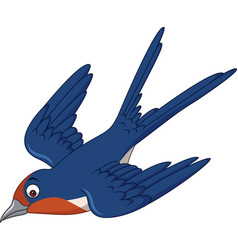 Cartoon swallow bird flying vector