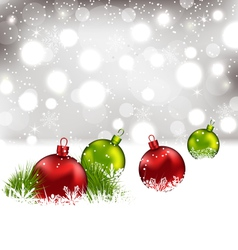 Christmas winter background with colorful glass vector image