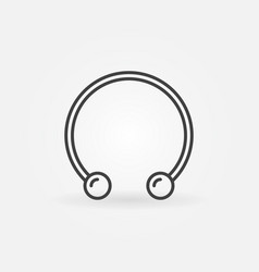 Circular barbells horseshoe icon - piercing vector