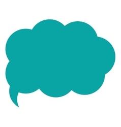 Cloud conversation bubble icon vector