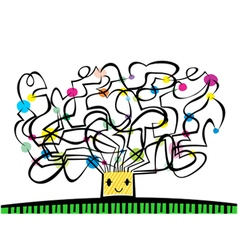 Creative Tree vector image