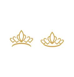 crown logo template vector image