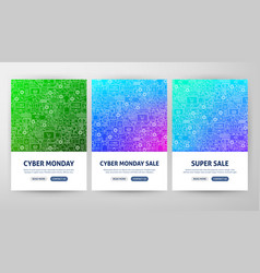 cyber monday flyer concepts vector image