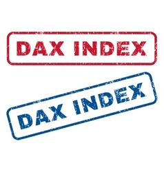 Dax Index Rubber Stamps vector