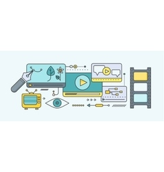 Distance Learning and Education vector image