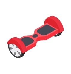 Dual wheel self balancing electric skateboard icon vector