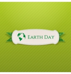 Earth Day white Banner and festive Ribbon vector
